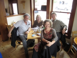 post Mendocino concert with Paul Dresher, Philipa Kelly and Martin Bresnick