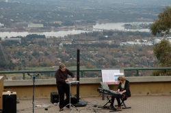 Mt Ainslie, playing Terry Riley with Gary France, CIMF May 2011