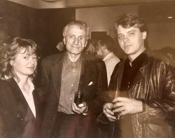 with Xenakis and Tor Fromyhr post-Dikthas, Paris 1992