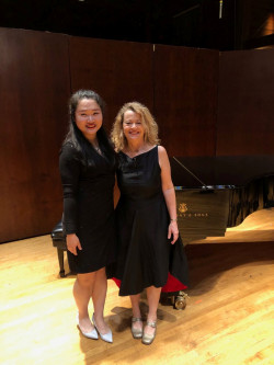 With Yifei Xu at Norfolk New Music Workshop June 2019